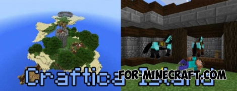Craftica Island map for MCPE 0.16