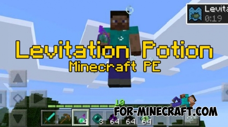 Levitation Potion mod for Minecraft PE 0.17.0