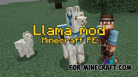 Llama mod v3 for Minecraft PE 0.17.0/1.0.4.1