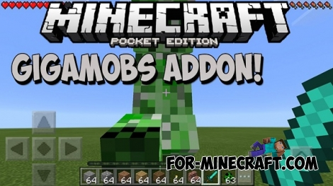 GigaMobs addon for MCPE 1.1.0.9