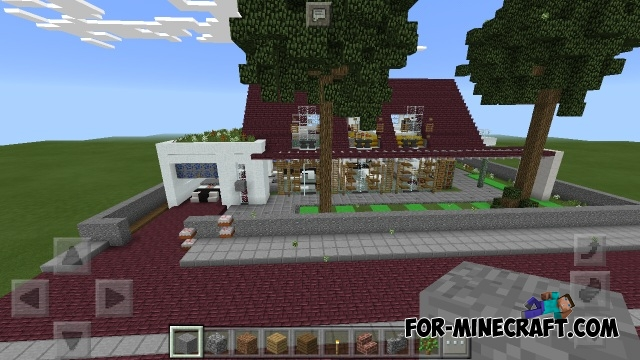 Modern small house map minecraft pe for Modern house map