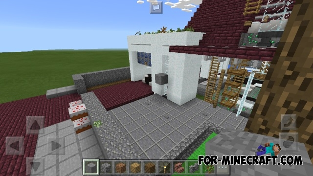 Modern small house map minecraft pe for Modern house minecraft pe