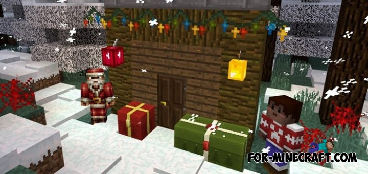 Christmas texture pack for minecraft pe 1 0 0 for Decoration mod mcpe 0 14 0