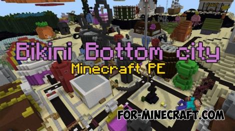 Bikini Bottom city for Minecraft PE 0.17.0