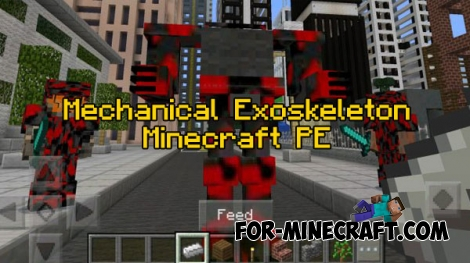 Mechanical Exoskeleton v2 for Minecraft PE 1.0/0.17.0