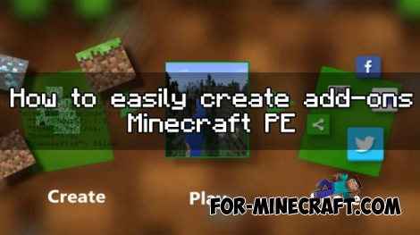 How to easily create add-ons in Minecraft PE