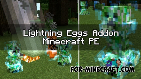 Lightning Eggs addon for Minecraft PE 0.17.0/1.0