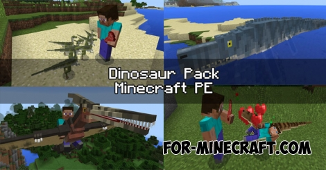 Dinosaur Pack for Minecraft PE 1.0 / 0.17.0
