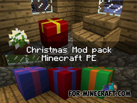 Christmas mod pack for Minecraft PE 0.16.0 - 0.17.0
