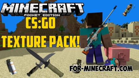 CS:GO Texture Pack for Minecraft PE 1.0/0.17.0