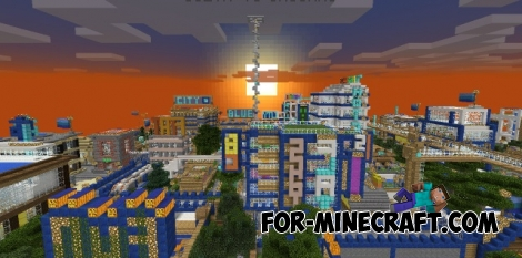 Blue City map for Minecraft PE 1.2