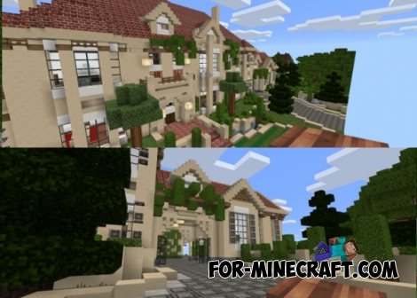 Euromansion map for mcpe 1 0 0 for Modern house mcpe 0 14 0