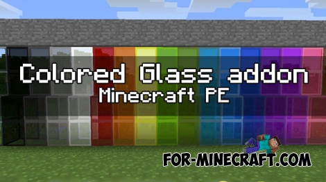 Colored Glass addon for MCPE 1.0.0/0.17.0