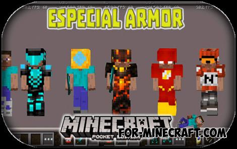 Special Armor mod for Minecraft PE 1.0/0.17.0