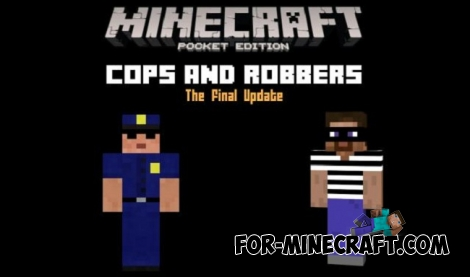 Cops and Robbers v8.0 map for Minecraft PE 1.0.0