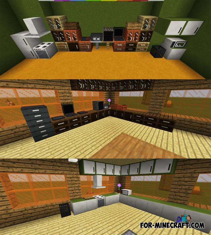 Decorating blocks mod for 9minecraft decoration mod