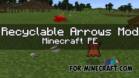 Recyclable Arrows mod for Minecraft PE 1.0.0