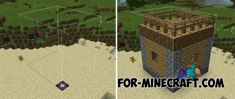 Structure Block mod for Minecraft PE 1.0.0 / 0.17.0