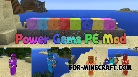 Power Gems PE mod v2.1 for Minecraft PE 1.0/0.17.0