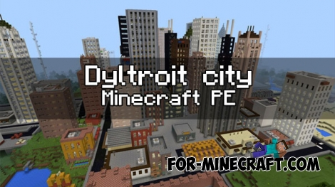 Dyltroit city map for MCPE 1.0/1.1+