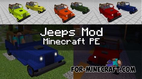 Jeeps mod for Minecraft PE 1.0.0/0.17.0