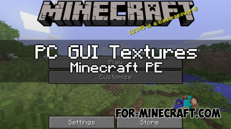 PC GUI Texture pack for MCPE 1.0 / 0.17.0