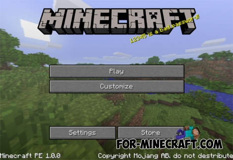 PC GUI Texture pack for MCPE 1.1
