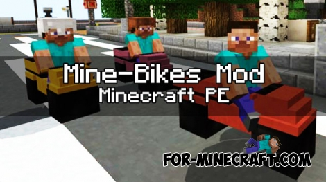 Mine-Bikes mod v3 [Minecraft Pocket Edition 1.0.0/1.1.0]