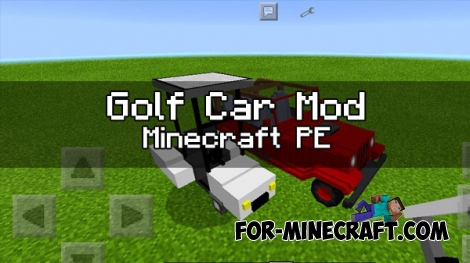 Golf Car mod for Minecraft PE 1.0.0/0.17.0