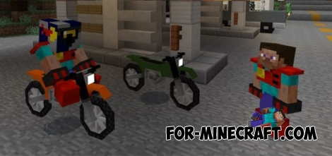 Cross motorcycle addon for MCPE 0.17.0 / 1.0.0