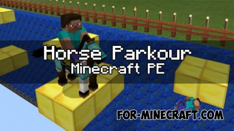 Horse Parkour map for Minecraft PE 1.0.0 / 0.17.0