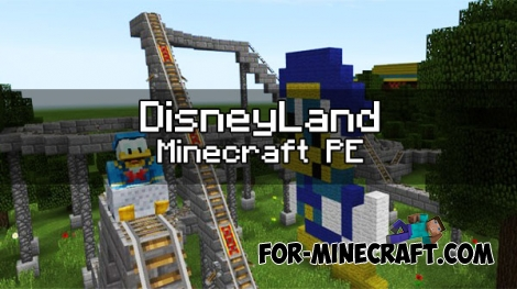 DisneyLand map v0.7 for Minecraft PE 1.0.0/1.1.0