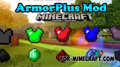 Armor Plus mod v4 for Minecraft PE 0.17.0/1.0.0/1.0.2