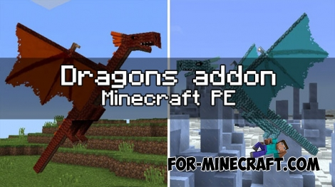 Dragons addon for Minecraft PE 1.0.0/1.0.2