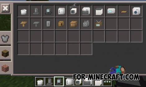 Furniture U.S. mod for Minecraft PE 0.10.4 / 0.10.5