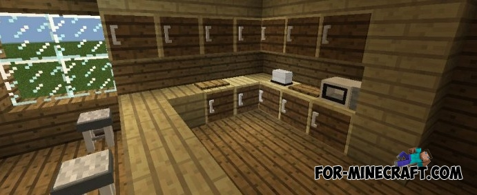 minecraft furniture kitchen mrcrayfish s furniture mod v6 for minecraft pe 0 11 0 13 14198